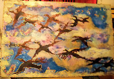 """""""BIRDS IN MOTION"""" by Ruth Freeman ACRYLIC ON STRETCHED CANVAS  24""""X36"""""""