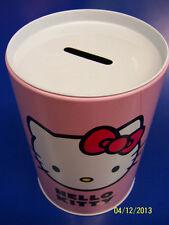 Hello Kitty Mirror Sanrio Pink Tin Box Company Kids Birthday Gift Piggy Bank