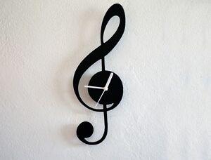 Music Sol Key - Silhouette - Wall Clock