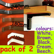 New style/modern shelf brackets clip-on covers pair