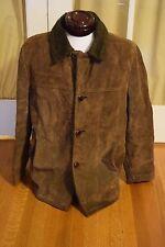 Vintage Men's Silton Brown Suede Leather Coat Jacket Size 42