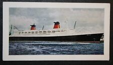 SS FRANCE  CGT  Liner     Illustrated Colour Card  # VGC