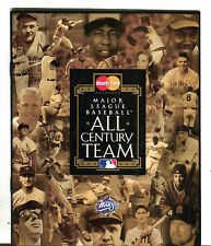 MasterCard Presents MLB All Century Team World Series 1999 Booklet EX 042216jhe