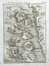 MOLLUCCAS, INDONESIA. MALUKU, SPICE Is, E. INDIES,Mallet orig. antique map 1719