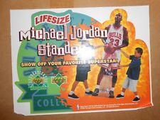 1998 MICHAEL JORDAN UPPER DECK LIFE SIZE STANDEE CARDBOARD CUTOUT!!! RARE!!!