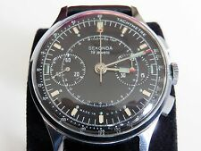 Vintage Sekonda Strela Poljot Chronograph Watch USSR Cosmonaut, Black Dial