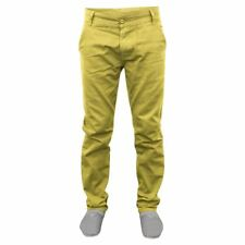 NEW MENS CHINO TROUSERS PANTS STRAIGHT LEG BOTTOMS SUMMER JEANS YELLOW & WINE
