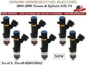6 pieces NEW Fuel Injectors 2006-2008 3.5L V6 Infiniti M35 OEM BOSCH #0280158042