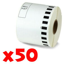 50 Roll 2-7/16 x 105ft 62mm DK-2205 Continuous Label Compatible Brother® QL-570
