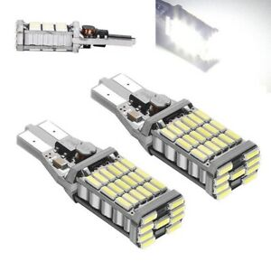 LED REVERSE LIGHT BULBS X2 SUITABLE FOR HYUNDAI I30 WHITE T15