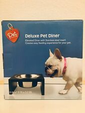 Pet Central Deluxe Pet Diner Elevated Stainless Steel Bowl 800ml Brand New