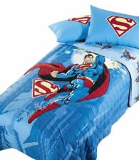 Copriletto Trapuntato Superman Energy Azzurro Super Eroi Warner Bros Caleffi