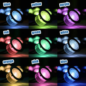 10 x RGB LED DECKING LIGHTS PLINTH KITCHEN GARDEN LIGHTING COLOUR CHANGING DECK