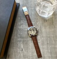 Brown Leather Watch Strap Band 20mm For Rolex Daytona Submariner GMT Datejust
