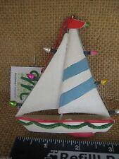Sailboat Sailing Boat W Lights Lake Beach Ornament New