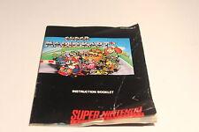 Super Nintendo SNES - Super Mario Kart - Instruction Manual Booklet Only