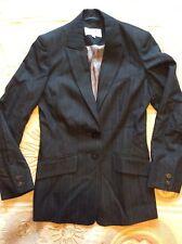 Next Ladies Jacket Size 8 Dark Grey Pin Stripe