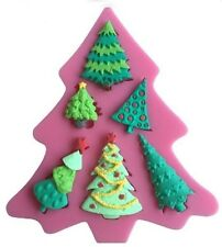 Christmas Tree Shape with 6 cav Silicone Mold Fondant Chocolate Crafts