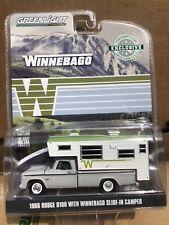 Greenlight Hobby Exclusive 1966 Dodge D-100 Winnebago slide-in Camper