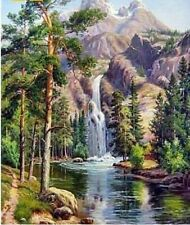 Waterfall Classical Propylene Paint By Numbers Kits For Adults DIY Painting Tool