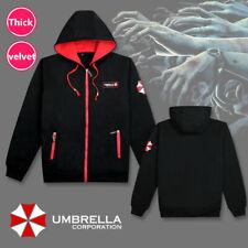 Resident Evil Umbrella Coat Mens Hoodie Sweatshirt Jacket Winter Velvet Hooded