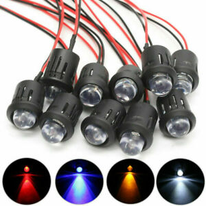 5V 10MM LED Diode Light Clear 18cm Cable Pre-Wired With Plastic Holder 1-50pcs