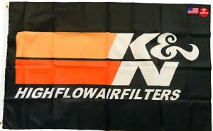 K&N High Flow Air Filters 3 x 5 Flag 3x5 Banner Garage Racing Man Cave New USA
