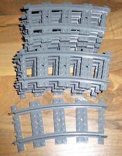 Lego 10x Schiene Gleis RC Kurve 53400 für 7896 7897 7893 3677 City Eisenbahn