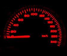 Full Red LED Dash Speedo Kit Lighting Set Replacement For Subaru Legacy 94-98