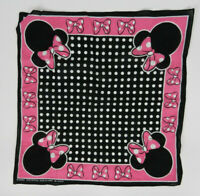 Disney Scarf Bandana Pink Black Minnie Mouse 22 x 22 in. Square