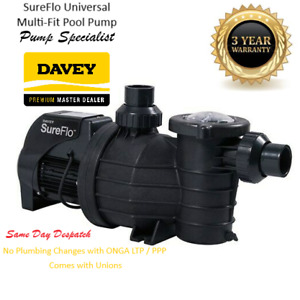 Davey SureFlo Swimming Pool Pump - DSF900 - Retro Fits ONGA LTP/PPP 3 year WTY