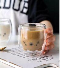 Tasse à café créative avec des cartoon animaux dans le verre, accessoire