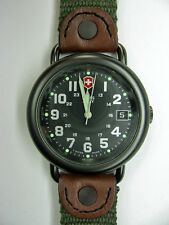 Victorinox Swiss Army gunmetal Cavalry Watch  black green womans small