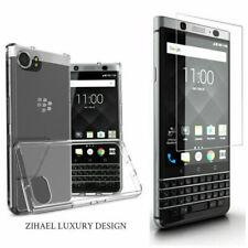 Blackberry KEYone Clear TPU Bumper Phone Cover Case & Screen Protector