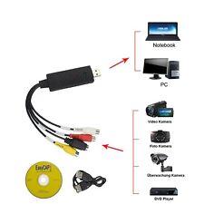 Grabber Video Konverter Analog zu Digital VHS Kassette Wandler + Bearb. Software