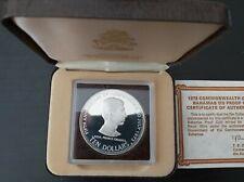 BAHAMAS – SILVER PROOF 10$ COIN 1978 YEAR KM#78 PRINCE CHARLES + BOX + COA