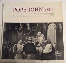 Pope John XXIII – Mercury RM200 – Excerpts from The Sounds of the Vatican;  V+/E