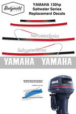 YAMAHA 130hp Saltwater Series replacement outboard decals