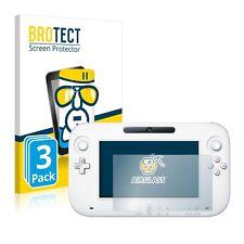 3x Nintendo Wii U GamePad (Controller) Schutzpanzer Glasfolie 9H Panzerfolie