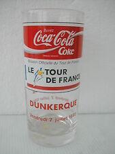 COCA COLA® VERRE TOUR DE FRANCE DUNKERQUE 7 JUILLET 1995  H 13.5 CM N° 2425