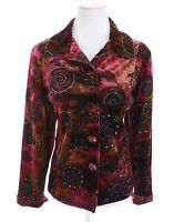 NWT Chico's Colorful Velvet Glitter Medallion Blazer Jacket Pink Women Sz 2  M 8