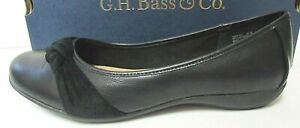 G.H. Bass & Co. Size 9.5 Black Leather Flats New Womens Shoes