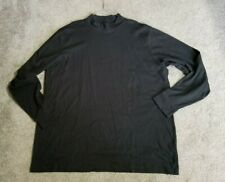 LANDS END   MENS XXL TALL   BLACK MOCK TURTLENECK   KNIT 2X  TALL