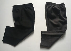 Boys Suit Dress Pants Sz 3T Black Grey Lot of 2 Elastic Waist Christmas Holiday