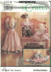 7314 UNCUT Vintage Simplicity Sewing Pattern Lamb Doll Draft Stopper Clothes OOP