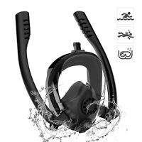 HJKB Full Face Snorkel Mask Dry Top Anti-Fog Sea View Diving with GoPro Mount