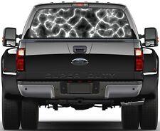 Plasma Lightning Black 2  Rear Window Graphic Decal Truck SUV Van Car