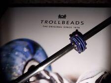 original TROLLBEADS - Bead  * blauer Tau *  long  retired  - wunderschön & Neu