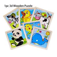 puzzle puzzle en 3d les animaux / circulation wooden cartoon le bois naturel