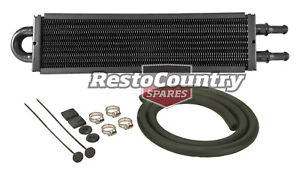 "Derale 13"" Power Steering Oil Cooler + Fitting Kit Copper / Aluminium p/s"